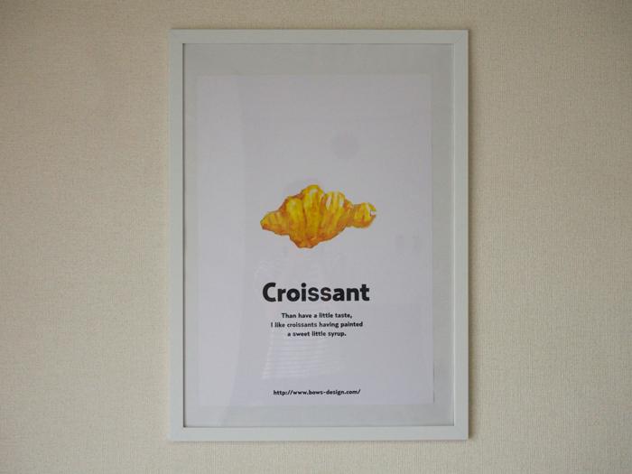 クロワッサンのイラスト ポスター