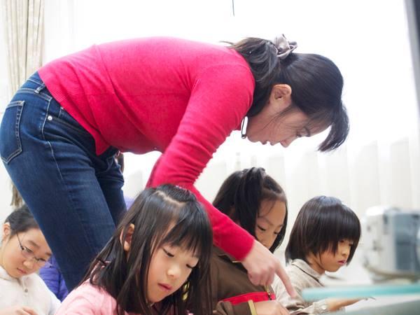 天城そろばん教室 授業風景